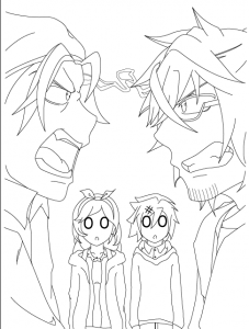 Finally finished the inking layers for all the illustrations in my light novel!! Now to tone the mid