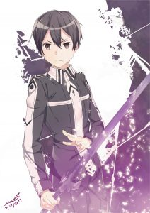 My attempt at making an SAO light novel cover kirito